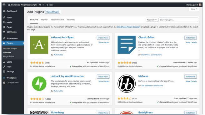 ajouter nouveaux plugins wordpress