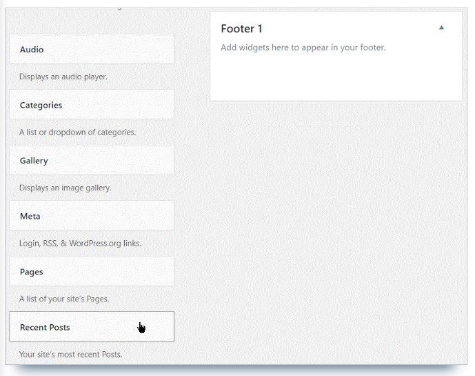 comment ajouter widget wordpress