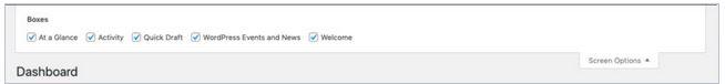modifier option ecran wordpress