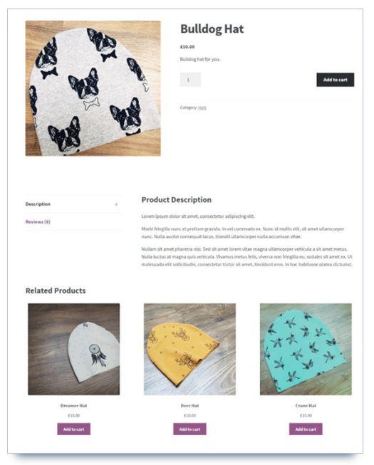 page produit woocommerce storefront