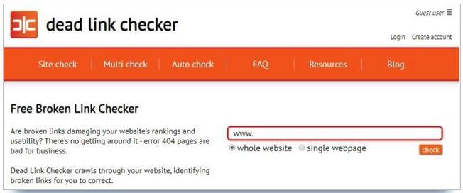 utiliser link checker